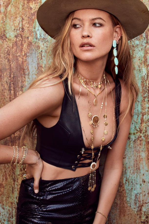 Behati Prinsloo appears in Jacquie Aiche fall 2018 jewelry campaign