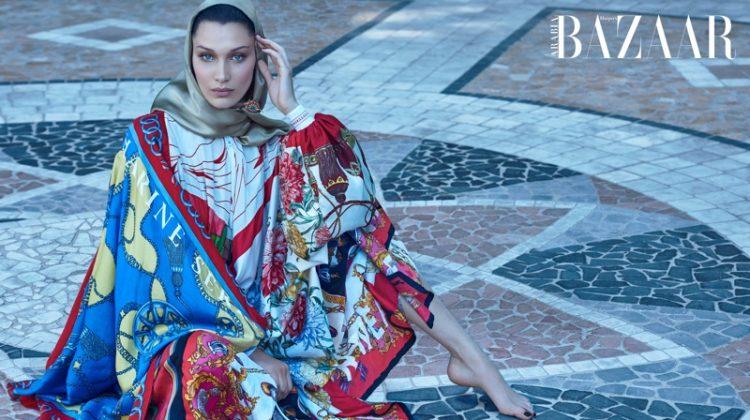 Bella Hadid Exudes Pure Opulence for Harper's Bazaar Arabia