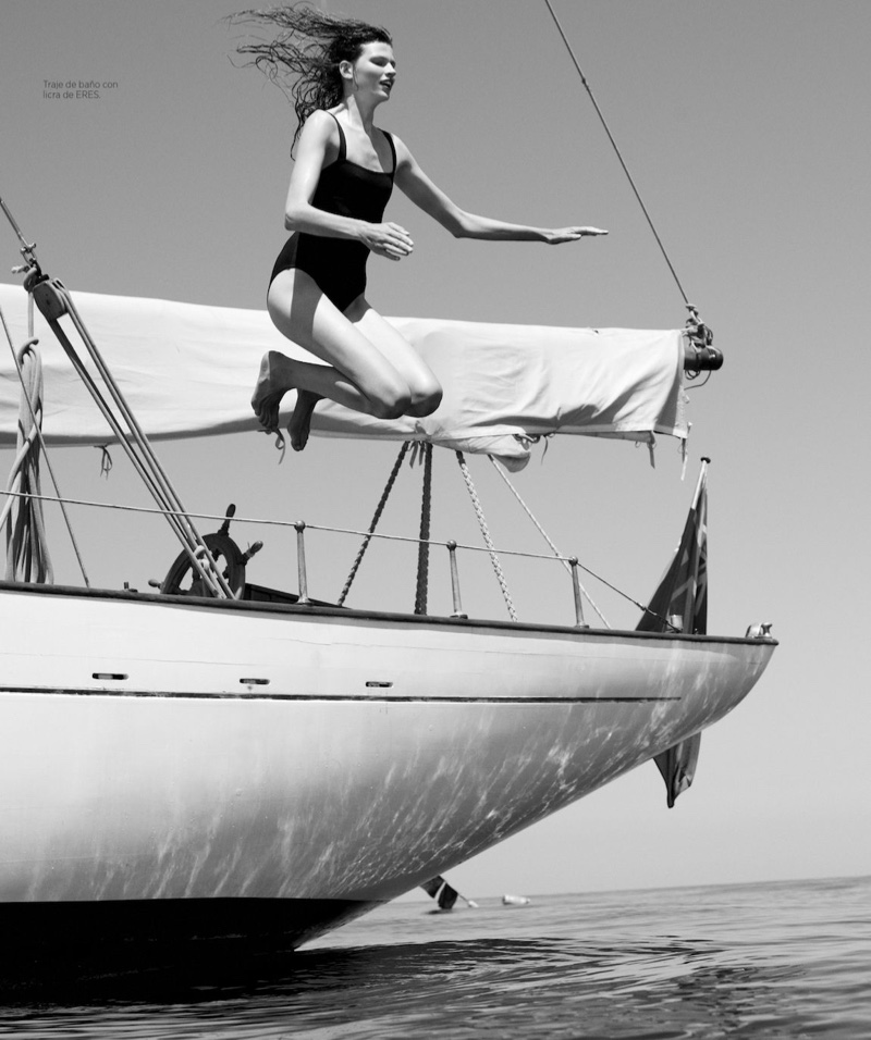 Bette Franke Takes On Nautical Style for Harper's Bazaar Spain