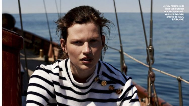 Bette Franke Takes On Nautical Style for Harper's Bazaar Spain