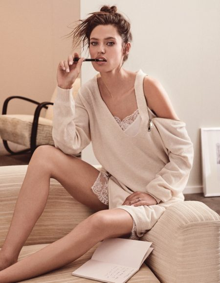 Bianca Balti stars in Twinset Knit Dream fall-winter 2018 campaign