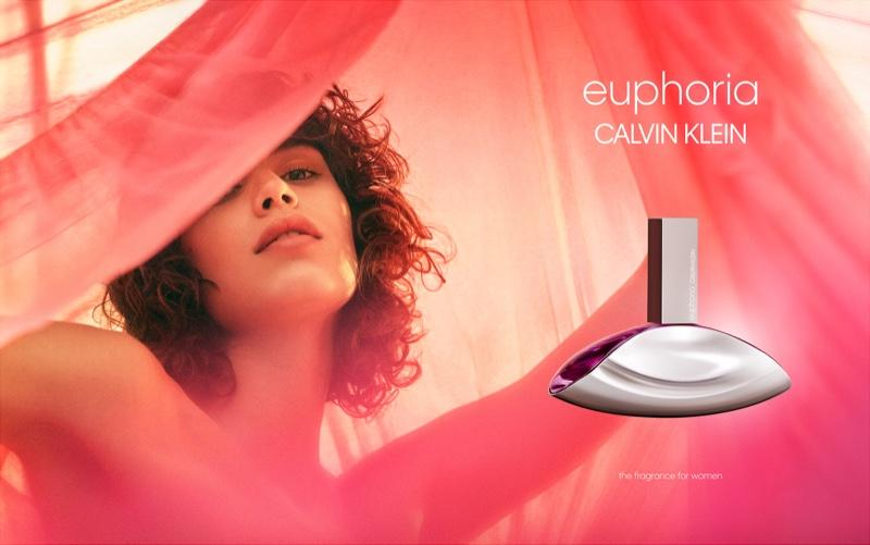 Mica Arganaraz stars in Calvin Klein Euphoria fragrance campaign. Photo: Emma Tempest
