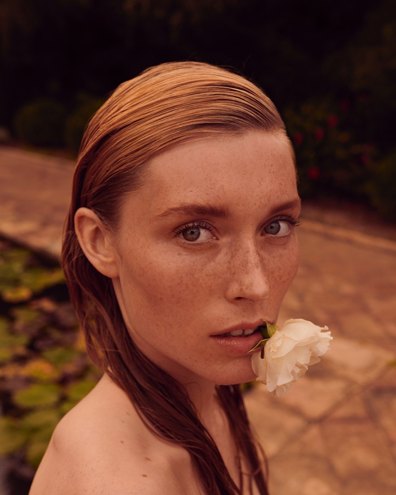 Caroline Lossberg is a Natural Beauty in Vogue  Portugal