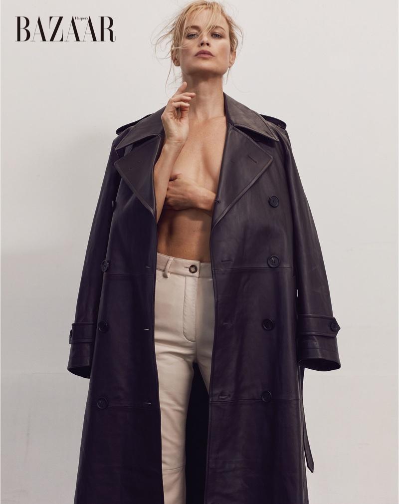 Carolyn Murphy Poses in Dark Looks for Harper's Bazaar Taiwan