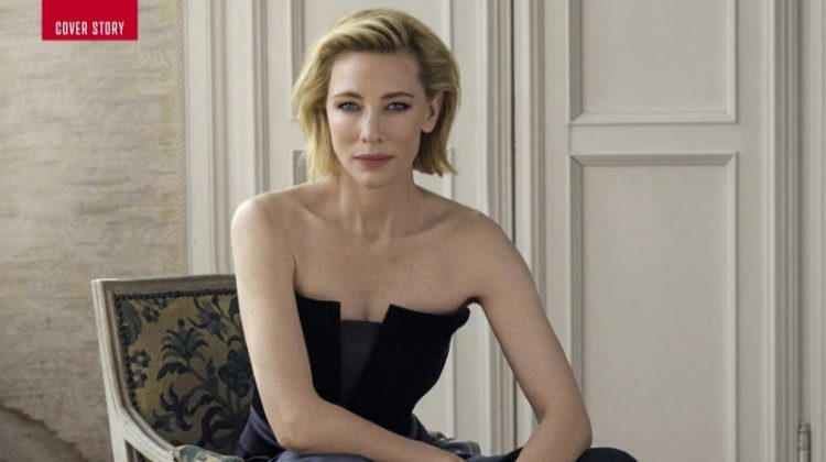 Cate Blanchett Looks Luxe in Giorgio Armani for Vanity Fair Italy
