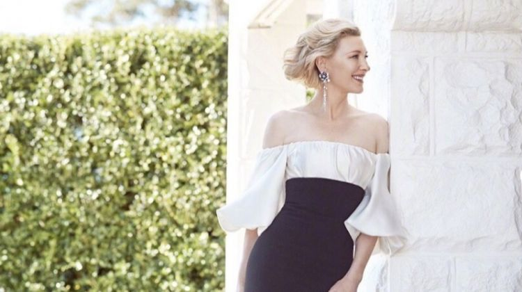 Cate Blanchett poses in a mermaid shaped gown