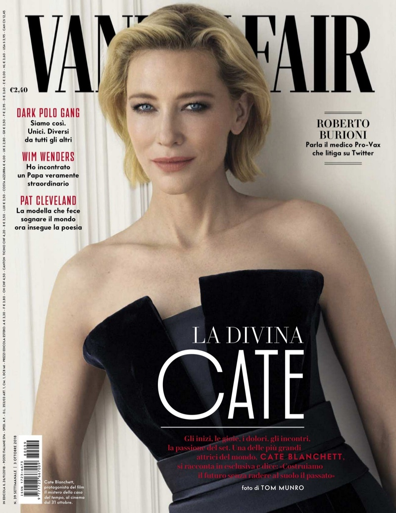 Cate Blanchett on Vanity Fair Italy October 3rd, 2018 Cover