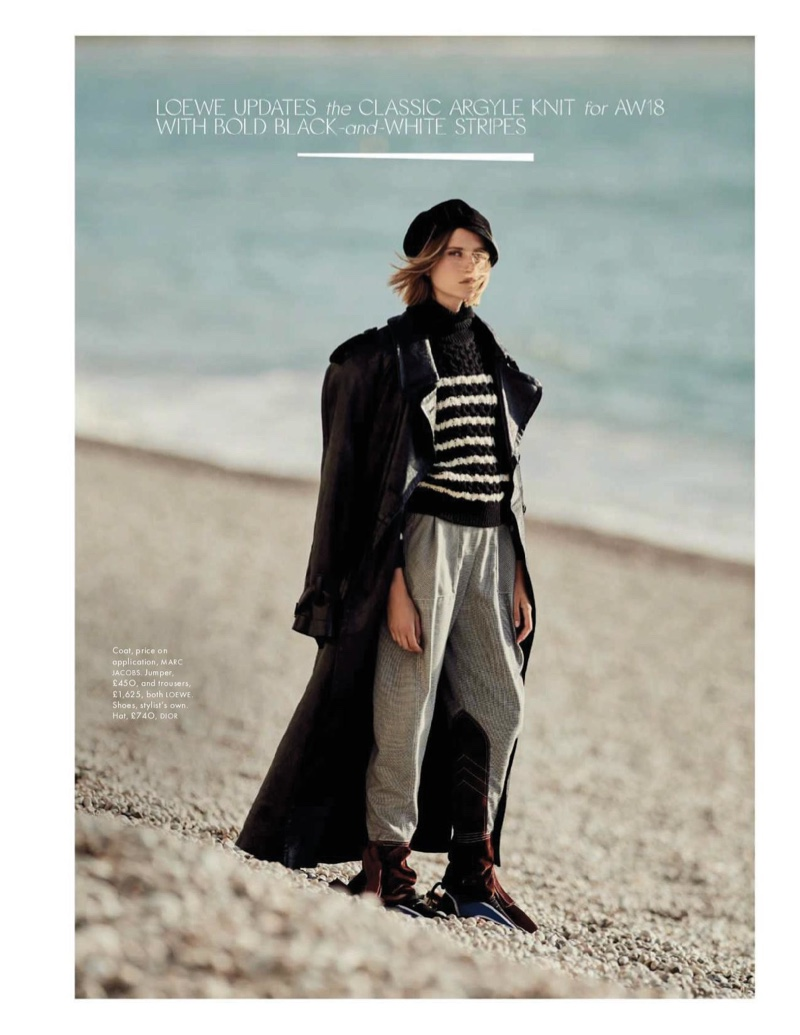 Cato Van Ee Models Fall Looks at the Beach for ELLE UK