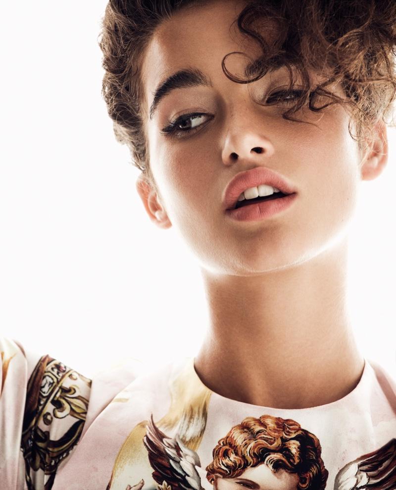 Chiara Scelsi Looks Angelic in Dolce & Gabbana for Woman Spain