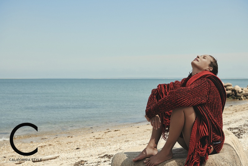 Christy Turlington Relaxes in Fall Looks for C Magazine