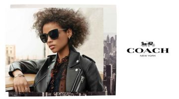Aya Jones stars in Coach Eyewear fall-winter 2018 campaign