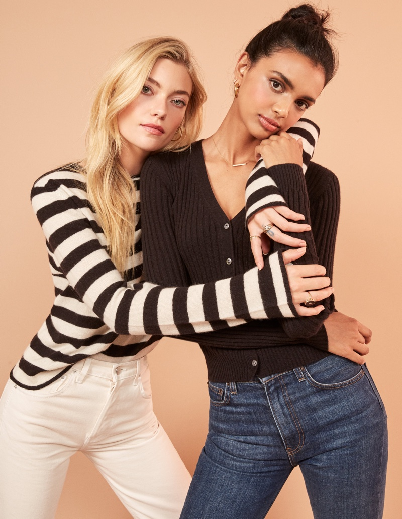Reformation conscious cashmere sweaters