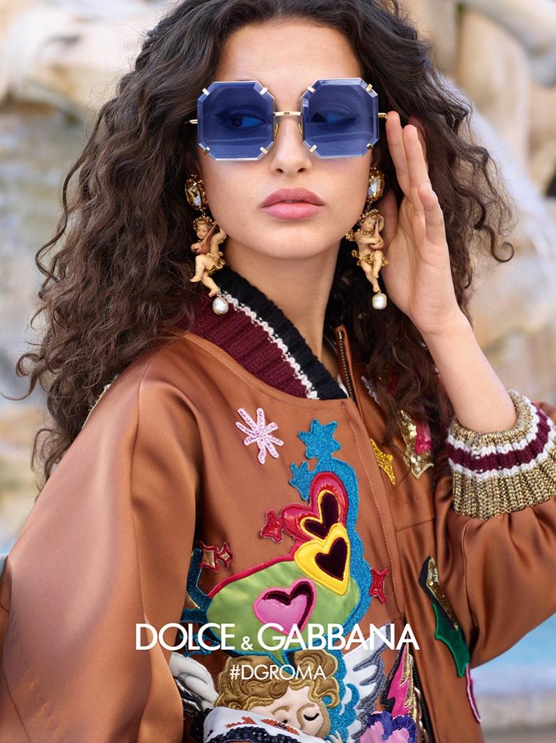 Chiara Scelsi stars in Dolce & Gabbana Eyewear fall-winter 2018 campaign
