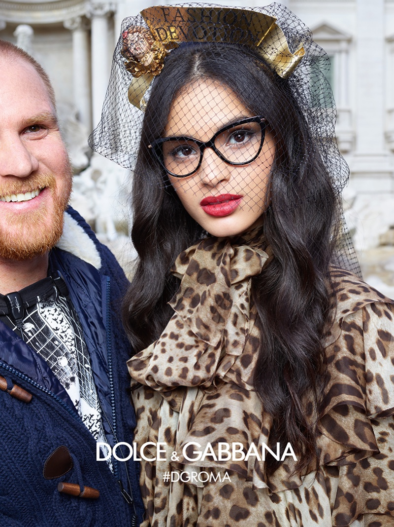 An image from the Dolce & Gabbana Eyewear fall-winter 2018 campaign