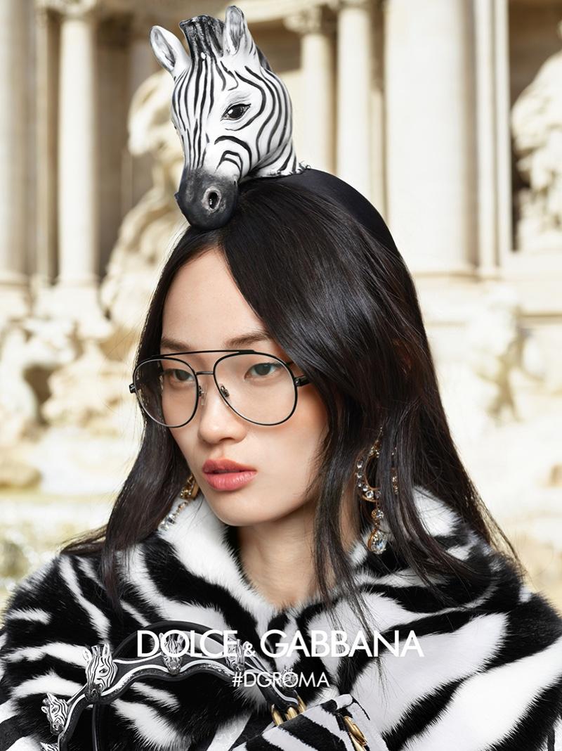 Hyun Ji Shin stars in Dolce & Gabbana Eyewear fall-winter 2018 campaign