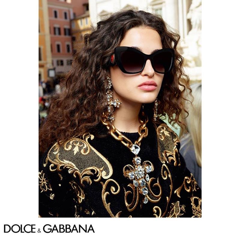Chiara Scelsi fronts Dolce & Gabbana Eyewear fall-winter 2018 campaign