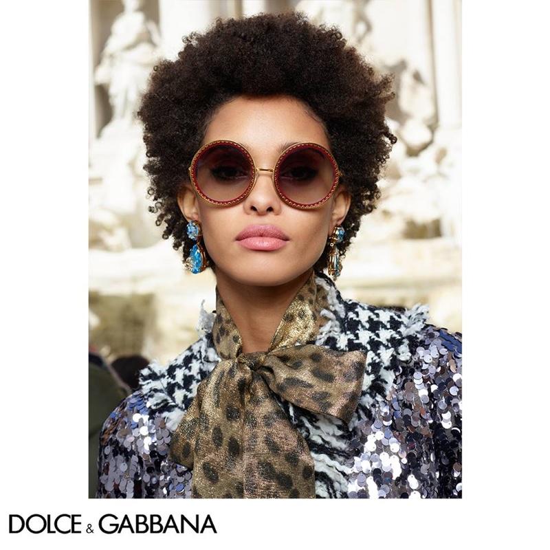 Samile Bermannelli appears in Dolce & Gabbana Eyewear fall-winter 2018 campaign