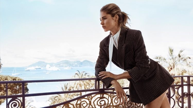Doutzen Kroes Poses in Elegant Looks for TELVA Magazine