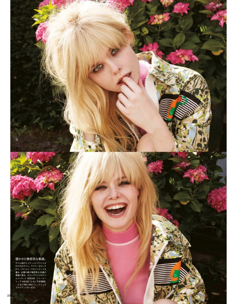 Elle Fanning shows off different expressions in these pictures