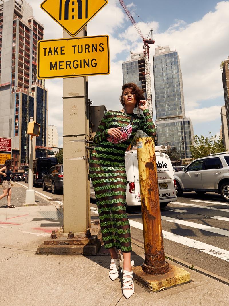 Eloisa Fontes Wears Bold Street Fashion in Glamour Bulgaria