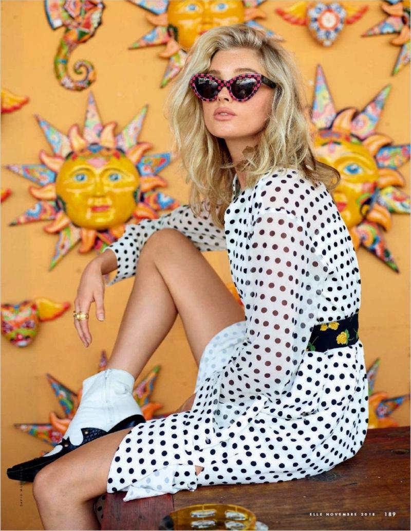 Elsa Hosk Poses In Southwestern Style for ELLE Italy