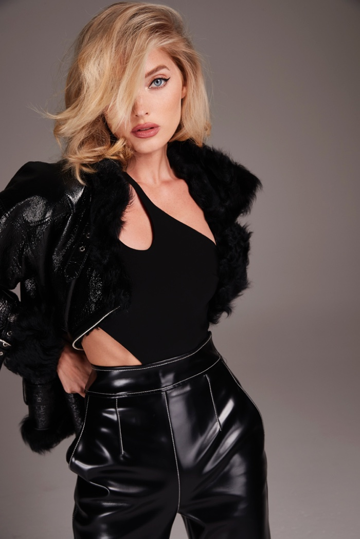 Dressed in black, Elsa Hosk fronts Nicole Benisti fall-winter 2018 campaign