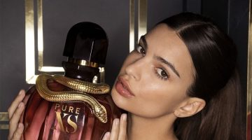 BEHIND THE SCENES: Model Emily Ratajkowski on set of Paco Rabanne fragrance campaign