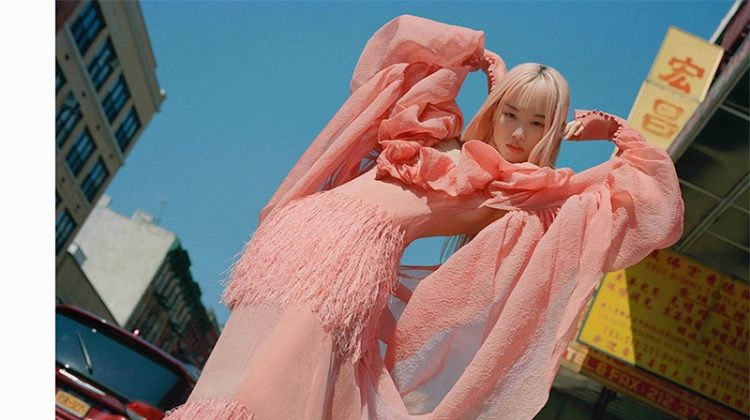 Fernanda Ly Models Colorful Ensembles for Vogue Russia