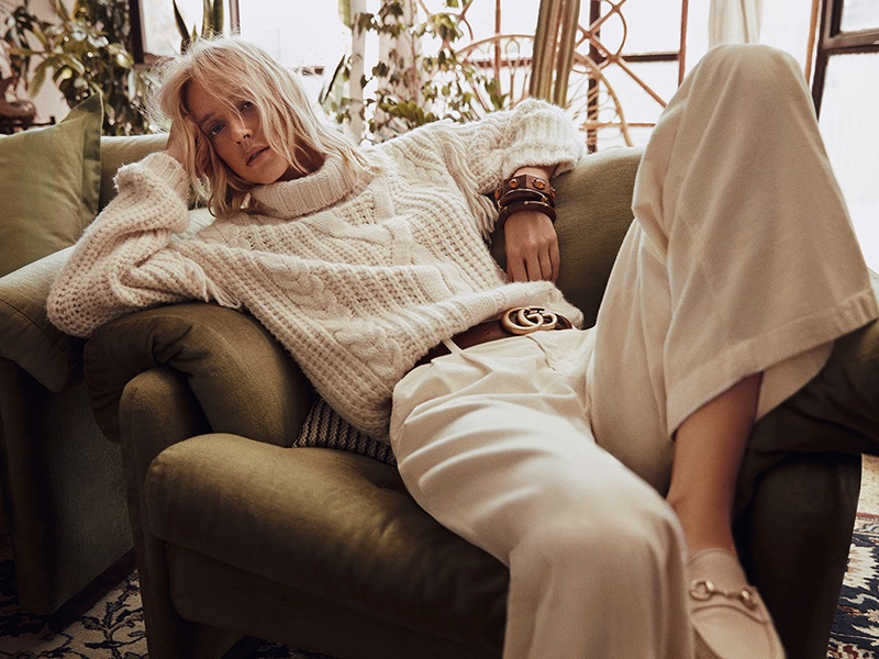Franzi Frings Takes On Retro Knits for Myself Germany