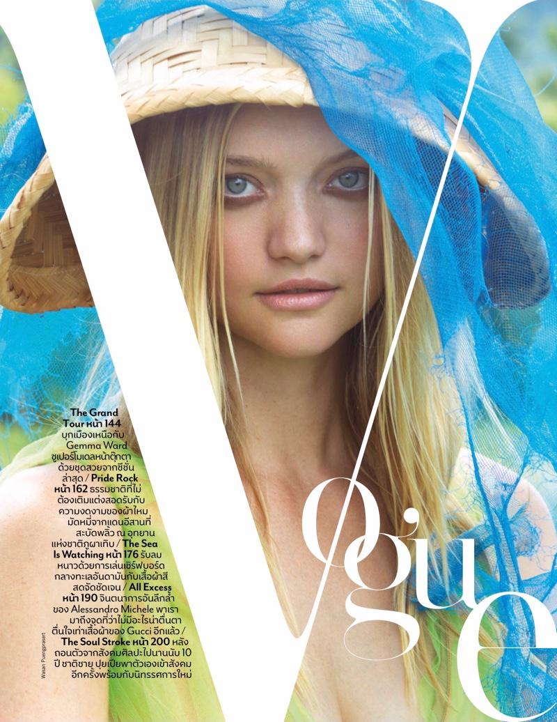 Gemma Ward Takes a Fashionable Tour for Vogue Thailand