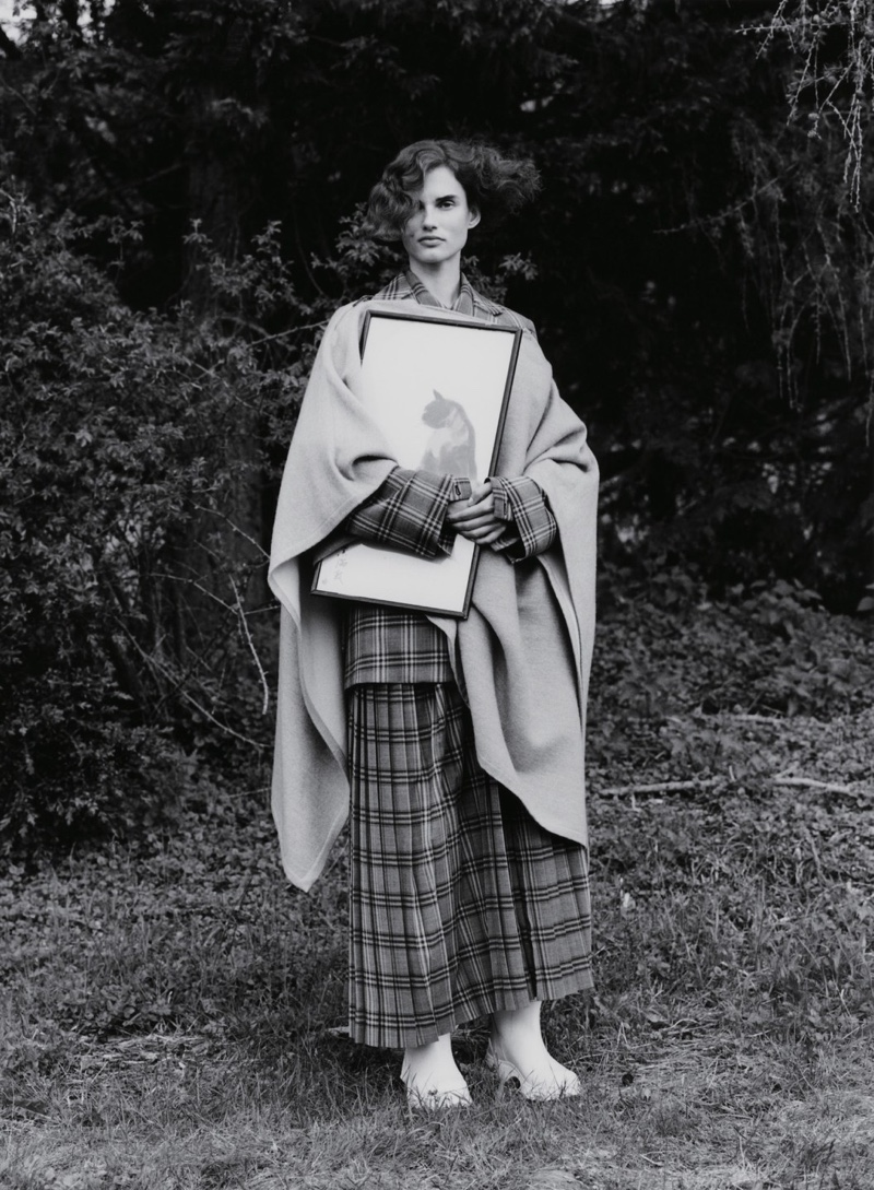 Giedre Dukauskaite Wears Eclectic Styles in Vogue China