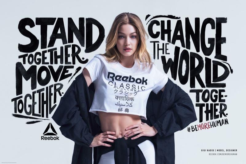 Gigi Hadid stars in Reebok Be More Human campaign
