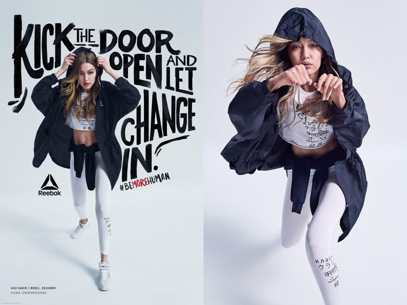 Reebok enlists brand ambassador Gigi Hadid for Be More Human campaign
