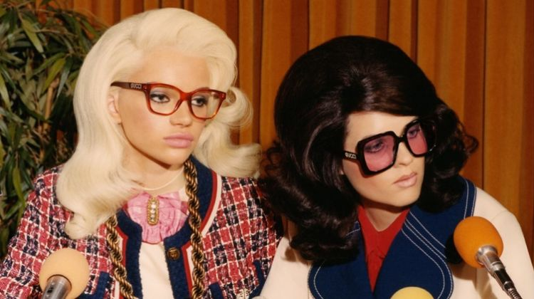 Stella Lucia and Sedona Legge front Gucci Eyewear fall-winter 2018 campaign