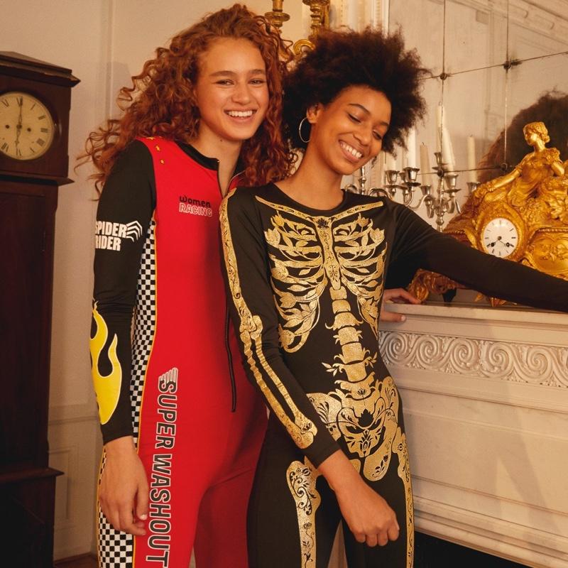 (Left) H&M Race Car Driver Costume (Right) H&M Skeleton Costume