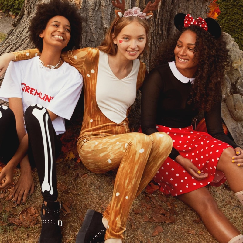 (Left) H&M Gremlins Shirt (Center) H&M Deer Costume and Hairband with Horns (Right) H&M Minnie Mouse Ears