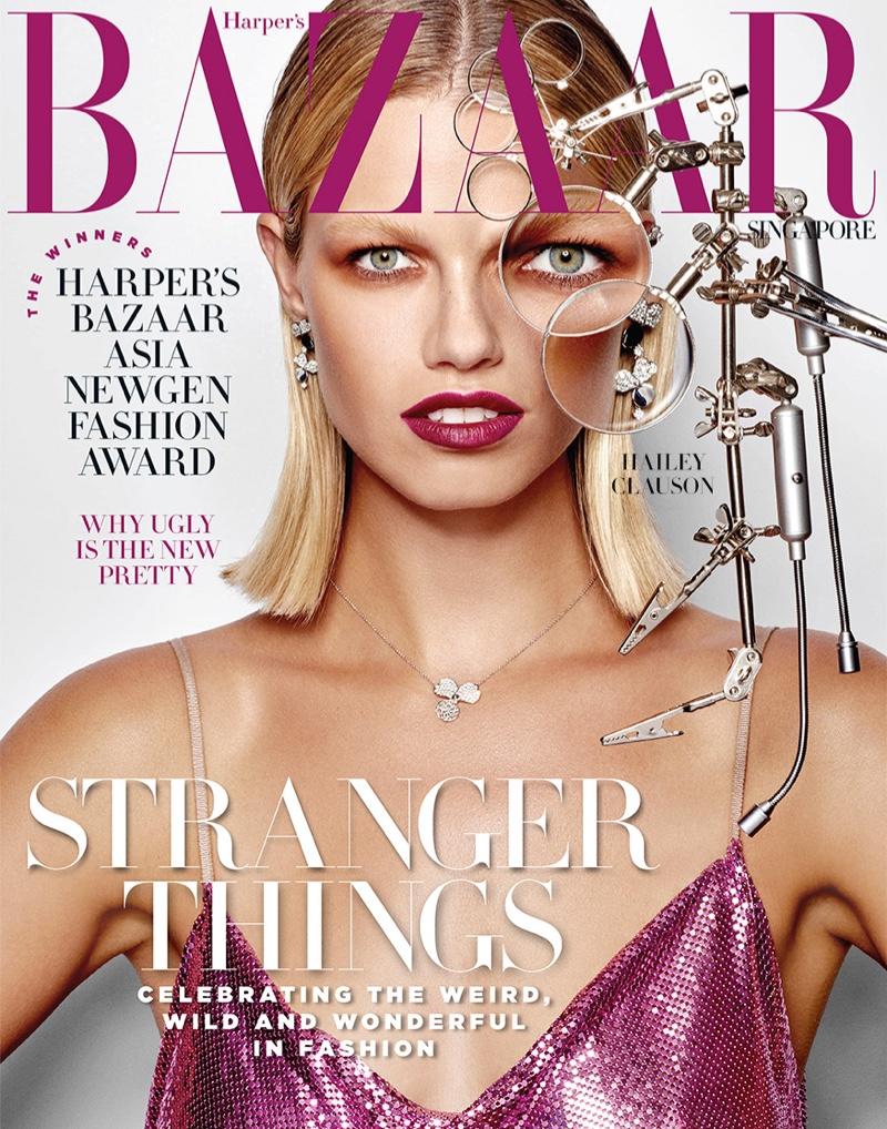 Hailey Clauson Shines in Daring Beauty for Harper's Bazaar Singapore