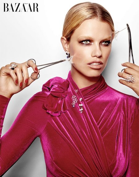 Hailey Clauson Shines in Daring Beauty for Harper's Bazaar Singapore