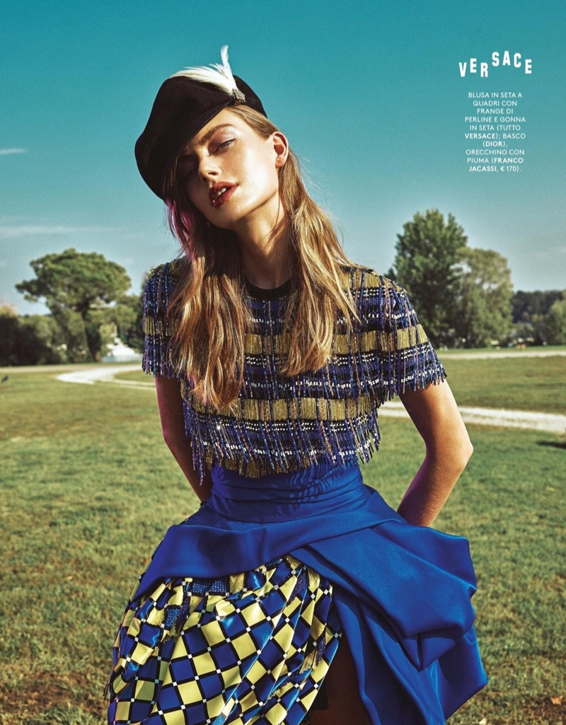 Hanna Verhees Poses in the Fall Collections for Grazia Italy