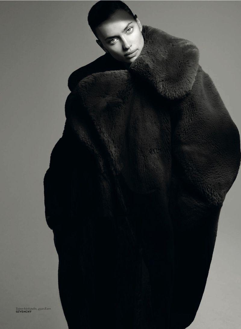 Irina Shayk Models On-Trend Outerwear for Vogue Turkey