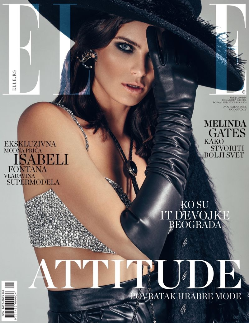 Isabeli Fontana Suits Up for ELLE Serbia Cover Story