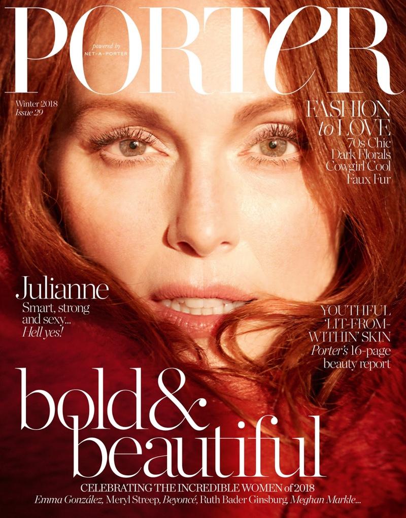 Julianne Moore on PORTER Magazine Winter 2018 Cover