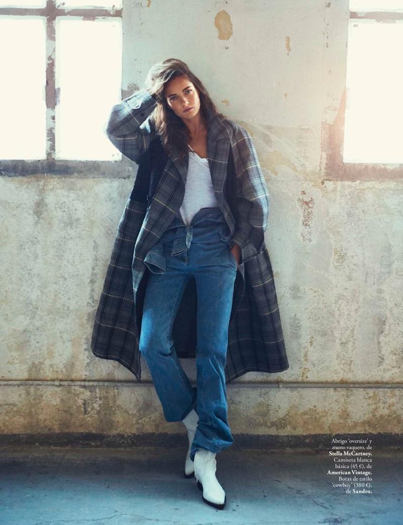 Karmen Pedaru Models Casually Chic Styles for ELLE Spain