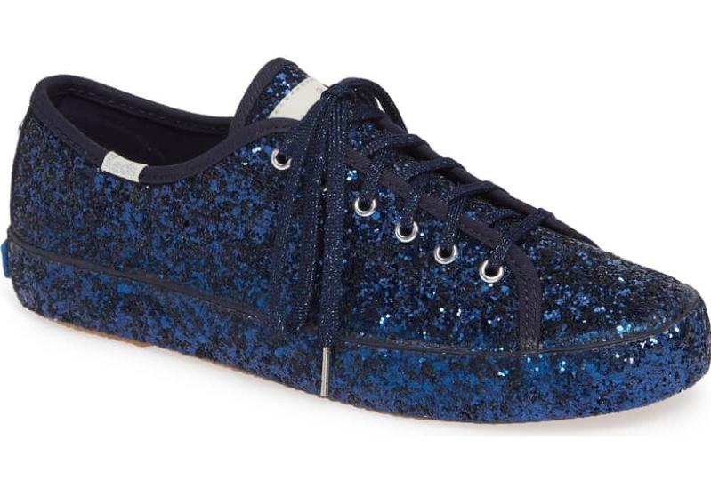 navy blue glitter keds