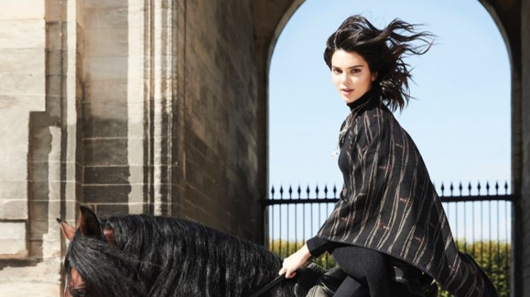 Kendall Jenner Models Equestrian Style in ELLE France