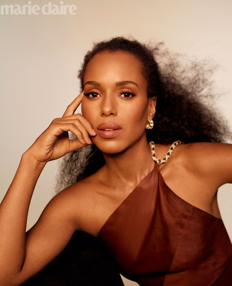 Kerry Washington Wears Luxe Looks for Marie Claire