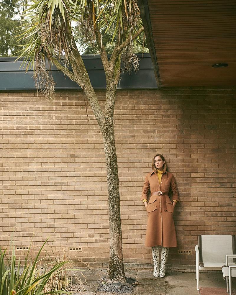 Kim Noorda Models Neutral Looks for Stylist Magazine