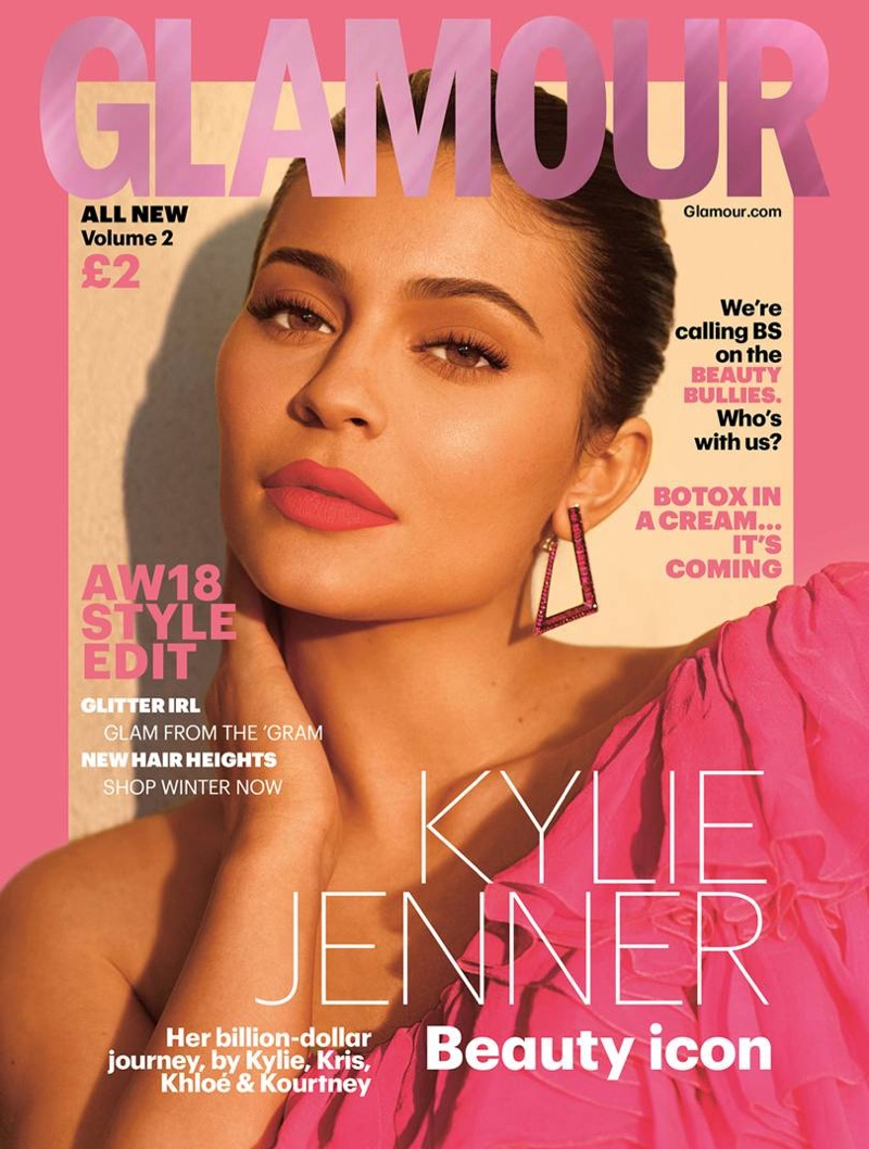 Kylie Jenner on Glamour UK Autumn/Winter 2018 Cover