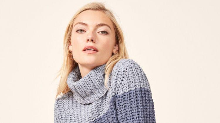 La Ligne x Reformation Color-Me-Happy Sweater in Blue Stripe $228
