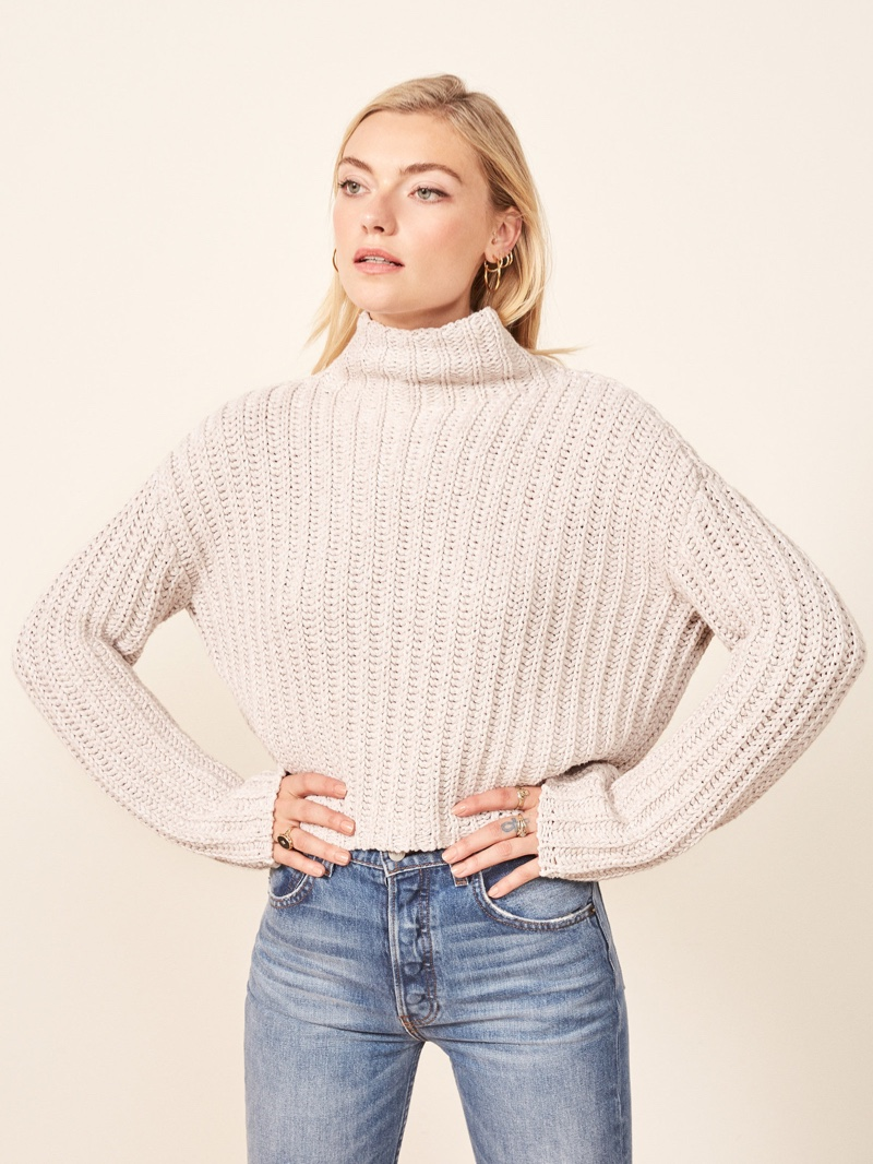 La x Ligne Reformation Never-Let-Me-Go Sweater in Cream $228